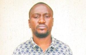 ...the suspect...Gift Njekwe Onyinechi (a.k.a) Mario Amando...
