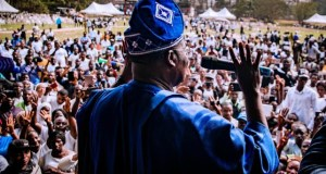 Governor Abiola Ajimobi...addressing beneficiaries of 'N-Power'...