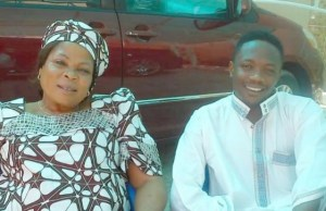 Ahmed Musa, with late mother, Mrs. Sarah Moses...