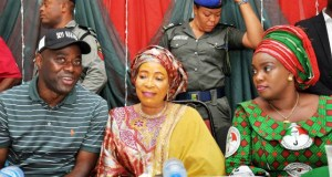 L-R: Engr Seyi Makinde, wife of PDP Presidential candidate, Chief (Mrs) Titi Atiku and Engr (Mrs) Omini Makinde…