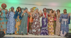 Erelu Bisi Fayemi and others...in Lagos...rooting for President Muhammadu Buhari's reelection...