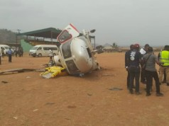 ...Vice President Yemi Osinbajo's helicopter after crashlanding...