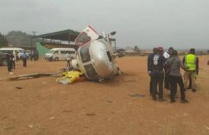 ...Vice President Yemi Osinbajo's helicopter after crashlanding...