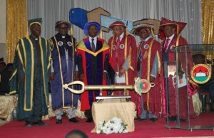 Scholars at the convocation ceremony...