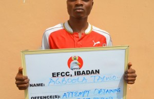 ...Agboola Taiwo...one of those arraigned by EFCC...