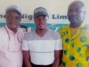 L-R: Olayinka Agboola, the Editor-in-Chief at PMParrot/Parrot Xtra Magazine, Yusuf Oladeni Adebisi and Olanrewaju Agiri, Sports Editor…during the visit…