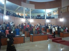 The fifth Children's Parliament in Ekiti State...in session...