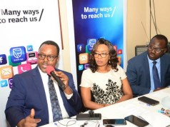 L-R: Chief Executive, Stanbic IBTC Pension Managers Limited, Mr Eric Fajemisin; Executive Director, Business Development, Stanbic IBTC Pension Managers Limited, Mrs Nike Bajomo; and Head, Micro Pension and Agency, Mr Abimbola Oladele, at the launch of Stanbic IBTC Pension Managers' micro pension campaign, held in Lagos…recently…