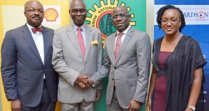 L-R: Vice Chairman, Nigerian British Chamber of Commerce (NBCC) Akin Osuntoki; former NBCC President, Prince Adedapo Adelegan; Managing Director, Shell Nigeria Exploration and Production Company (SNEPCo), Bayo Ojulari; and Group Head, Oil and Gas for Bank of Industry, Ebehi Ehi-Omoike, at the event…