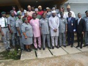...members of Oyo House with officers and men of the Nigerian Customs...during the visit...