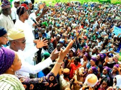 Governor State of Osun, Mr. Adegboyega Oyetola and his predecessor, Ogbeni Rauf Aregbesola, during a victory party organized by the leadership of the APC in honour of Governor Oyetola's victory of the Supreme Court judgement, at the Mandela Freedoms Park, Osogbo on Saturday