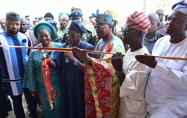 Photo: When Oyetola Commissioned District Council Government ...