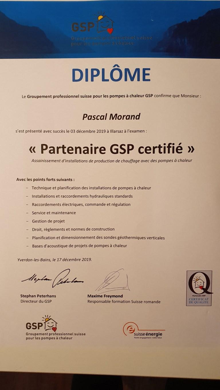 Partenaire GSP certifié