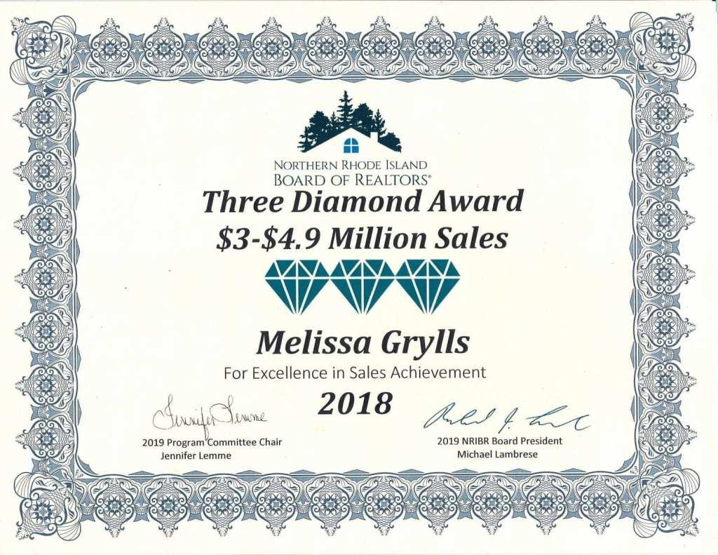 Melissa Diamond Sales Award 2018