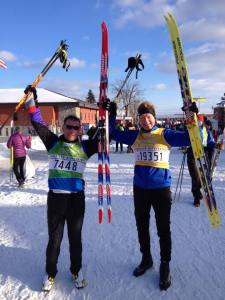 Peter finishes 55 km Birkebeiner cross-country race in Wisconsin Feb 2015