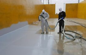 Напыление полимочевины на бетон из установки высокого давления