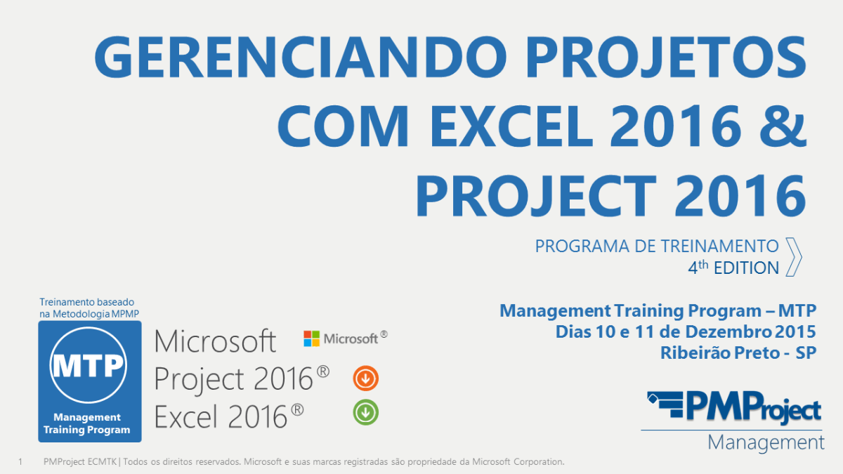 Gerenciando Projetos com Project 2016 - 8th Edition MTP