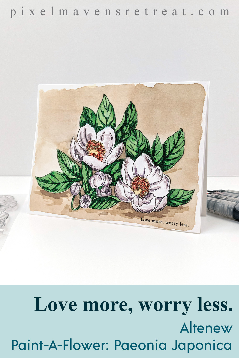 Altenew Paint-A-Flower: Paeonia Japonica Release Blog Hop + Giveaway