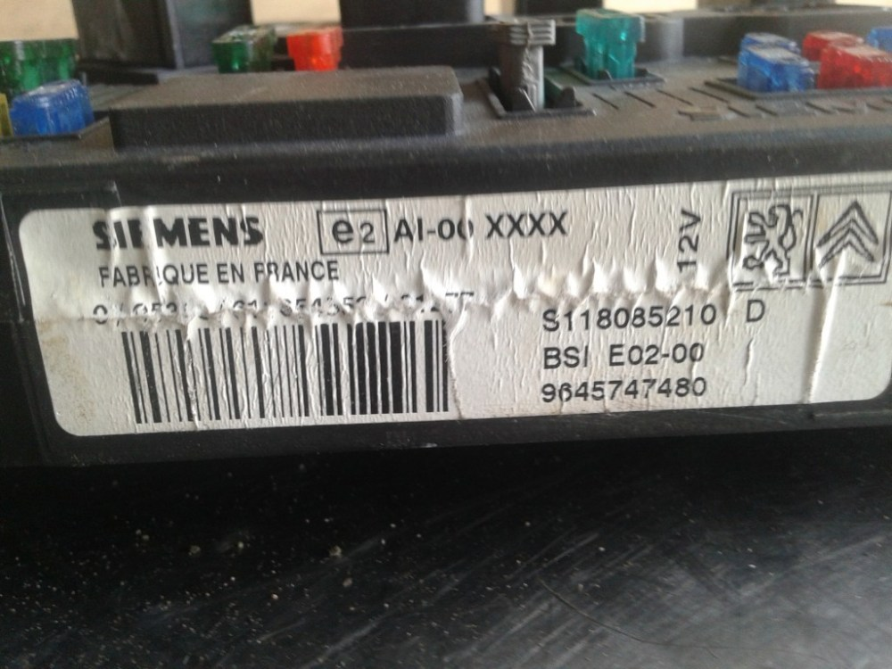 medium resolution of fuse box peugeot 206 2002 2no1 293