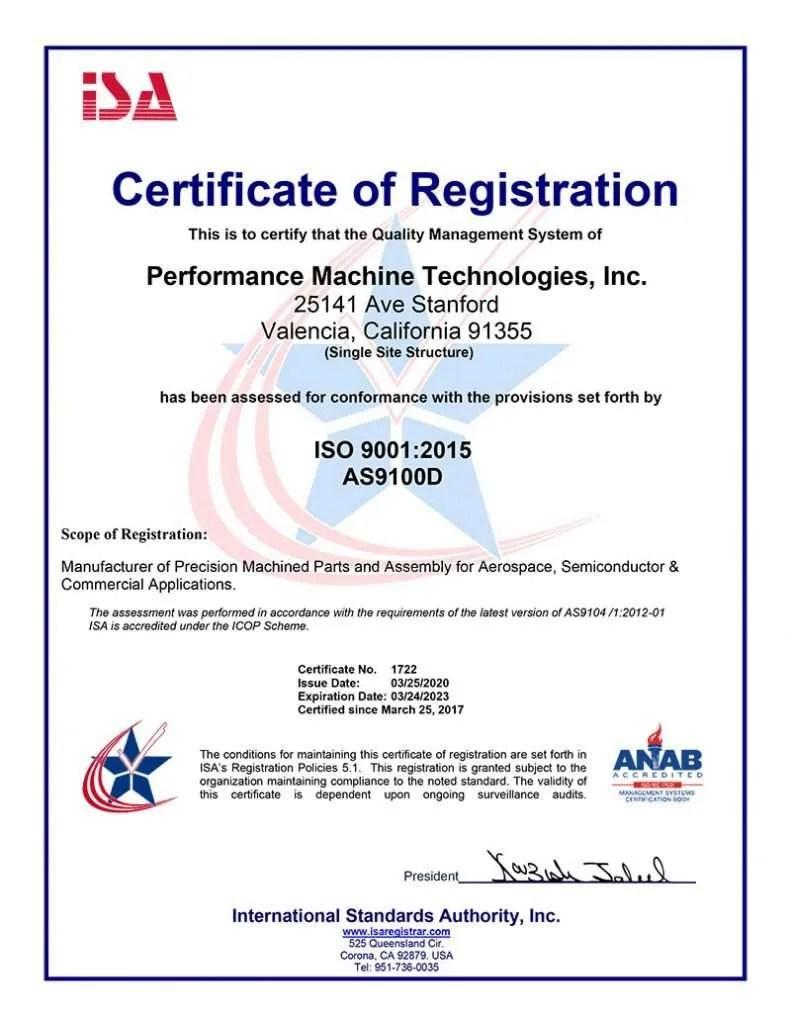 certificate isa registration