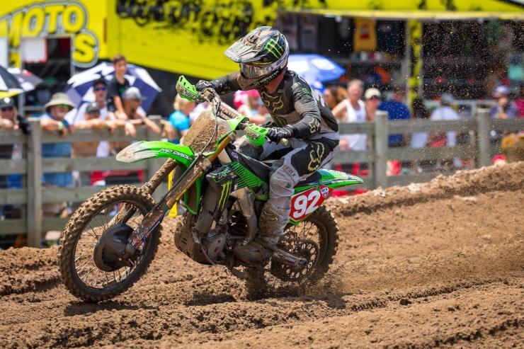 Championship leader Cianciarulo had to dig deep in each moto to land on the overall podium.