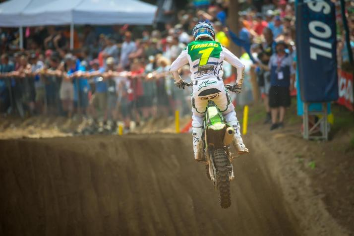 Tomac's podium finish moved into firm control of the championship.