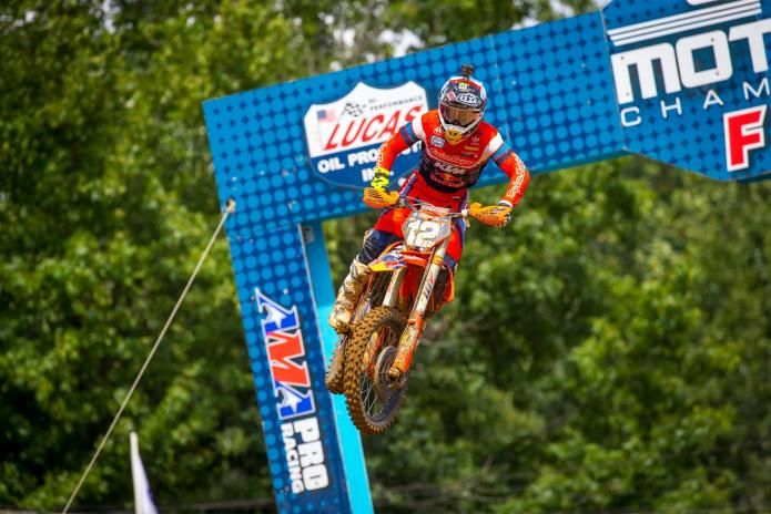McElrath swept both motos to capture his firstoverall win of the 2019 season.