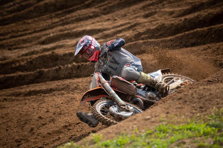 An impressive ride by Blake Baggett saw him take the Moto 2 win and second overall (6-1).