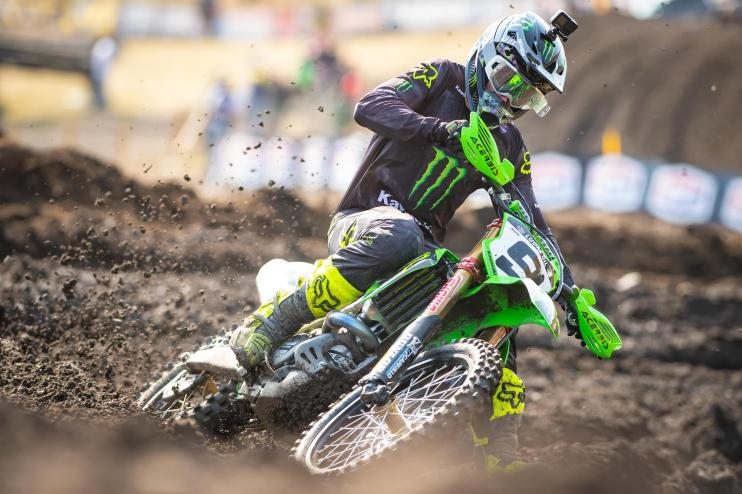 Adam Cianciarulo just missed out on a third victory via tiebreaker, leading to a Kawasaki 1-2 sweep.