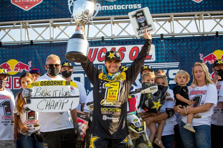 Zach Osborne is the 2020 Lucas Oil Pro Motocross 450 Class Champion.
