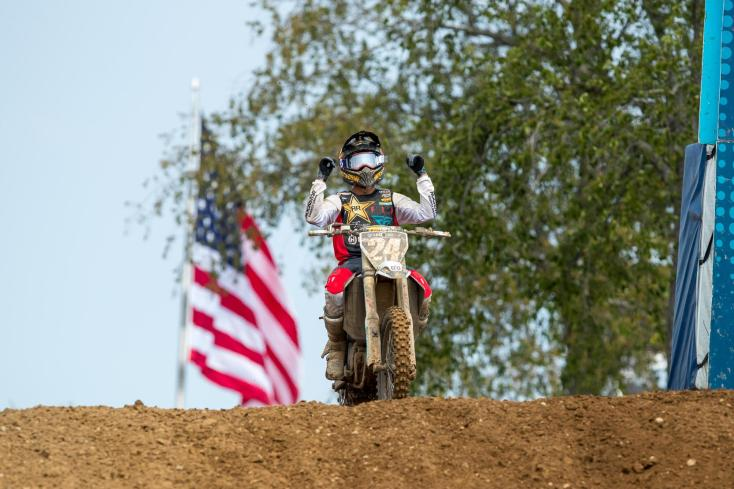 For the second consecutive year RJ Hampshire emerged with a RedBud National win (2-2) in the 250 Class.