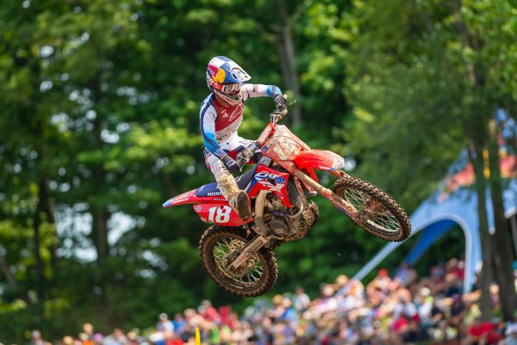 A first moto victory and hard charge by Jett Lawrence in Moto 2 were good enough for third overall (1-6).