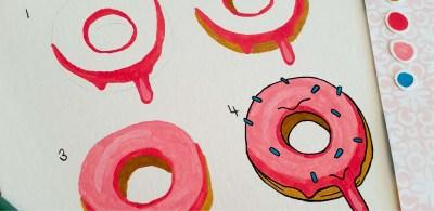 How To Paint Doughnuts Gouache