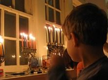 Hanukkah candles detail (view slideshow)