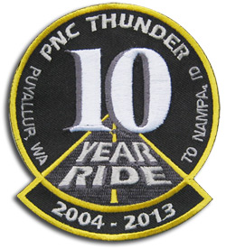 """10th Annual Nampa """"Iron Butt"""" Ride Patch"""
