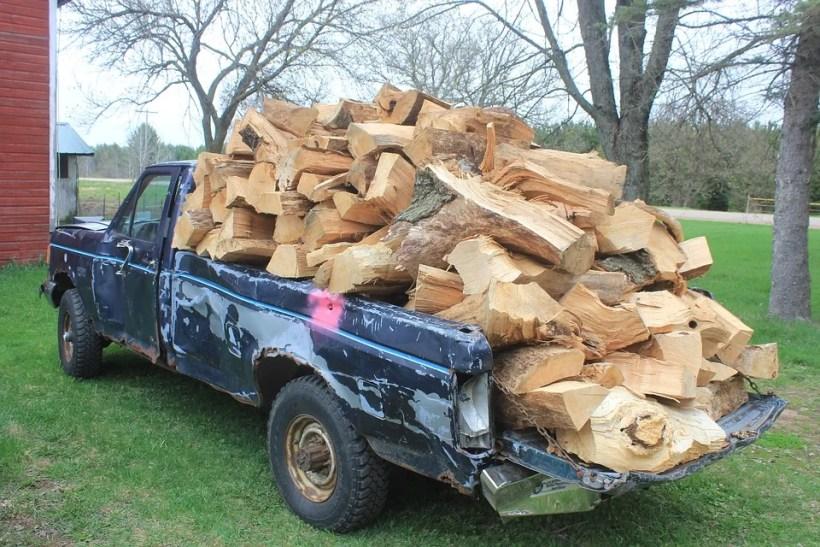 Overload Firewood Woodpile Wood Pick-up