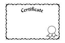 Free download of Merit Certificate vector graphics and