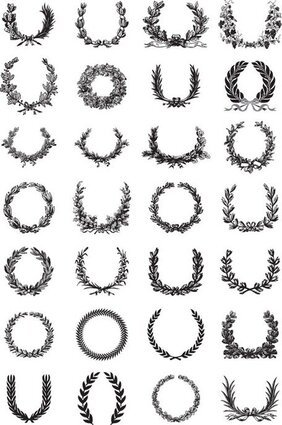 Free Laurel Wreath Svg : laurel, wreath, Laurel, Wreath, Clipart