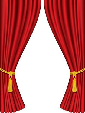 Curtain Vector Png : curtain, vector, Curtain, Clipart