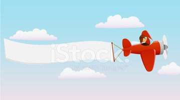 cartoon red plane with