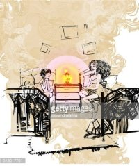 Children IN Bedroom With Lamp stock vectors - Clipart.me