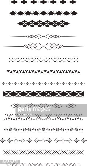 geometric text dividers stock