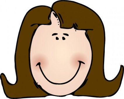 Smiling Lady Face Clip Art Clipartme