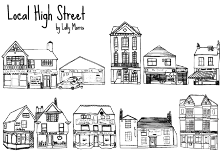 Free Free Hand Drawn High Street Shops Vectorss Clipart