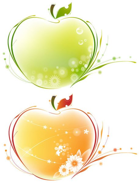 illustration of abstract apple