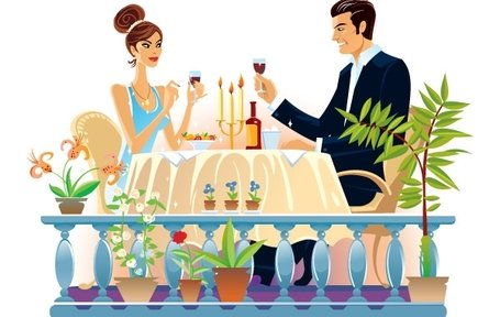 romantic evening clipart