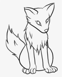 Easy Wolf Drawing Pictures And Cliparts Download Free Anime Wolf Drawing Easy HD Png Download Transparent Png Image PNGitem