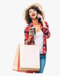 Happy Girl Shopping Png Transparent Png Transparent Png Image PNGitem