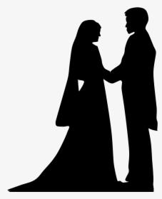 Pengantin Vektor Png : pengantin, vektor, Bride, Groom, Silhouette, Siluet, Pengantin, Muslim, Hijab,, Download, Transparent, Image, PNGitem