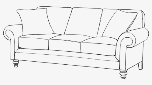 drawn sofa side view studio couch hd